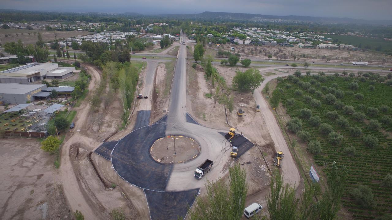 La nueva rotonda sobre Boedo y Acceso Sur